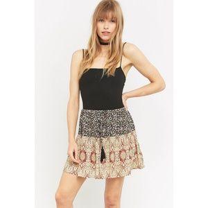 Staring at Stars Mixed Print Tiered Skirt